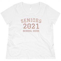 Rose Gold Seniors Plus Size Tee