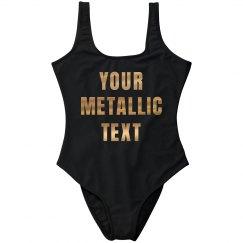 Custom Gold Metallic Beach Quote
