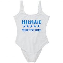 Blue Metallic Custom Mermaid