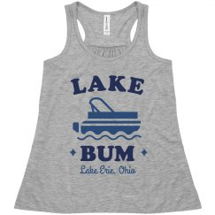 Lake Bum Cute Girl's Custom Tank