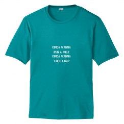 Kinda Wanna Run a Mile, Kinda Wanna Nap Workout Tee