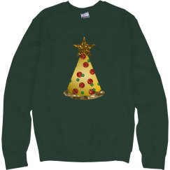 glitter pizza christmas