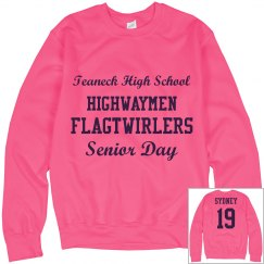 Senior Day Sweatshirt-Breast Cancer Awareness Month