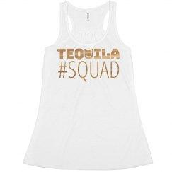 Tequila Squad Metallic Crop