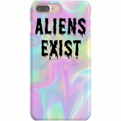 Aliens Exist Grunge Pastel Rainbow