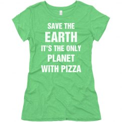 Funny Earth Day Tumblr Pizza Tee