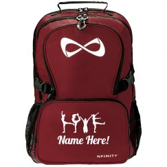 Custom Name Cheer Love Pose Nfinity Backpack