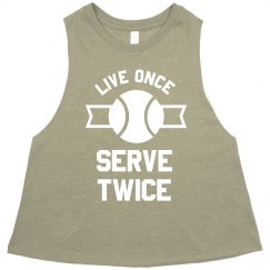 Serve Twice Tennis Crop