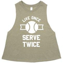 Serve Twice Tennis Crop