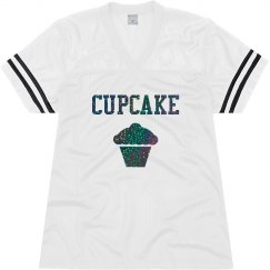 Cupcake Black Glitter Text