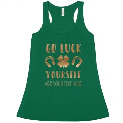 Gold Metallic Luck Yourself