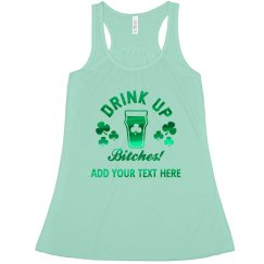 Green Metallic Irish Drink Up