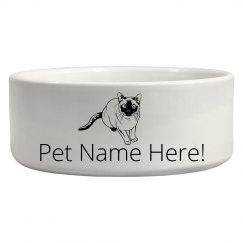 Custom Cat Pet Bowl Gift