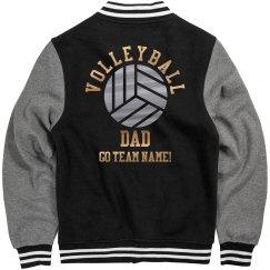 Custom Metallic Volleyball Dad
