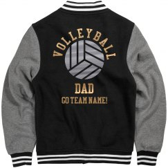 Custom Metallic Volleyball Dad