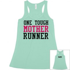 Custom Name Tough Running Mom