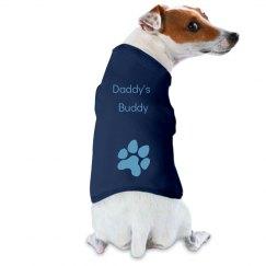 Daddy's Buddy dog tee