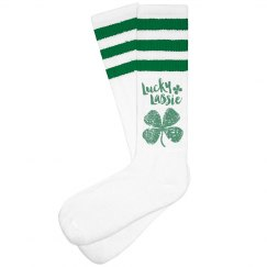 Lucky Lassie Distressed Shamrock