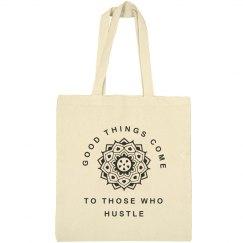 Mandala Hustle Quote Girl Gift