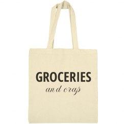 Funny Reusable Grocery Tote Bag