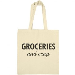 Funny Reusable Grocery Tote Bag