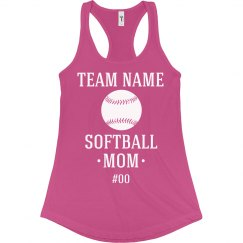 Custom Softball Mom Fan