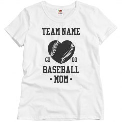 Custom Number Baseball Mom
