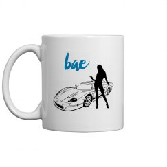 Bae - Car and Girl Silhouette - Coffee Mug