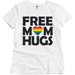 Ladies Relaxed Fit Basic Tee Free Mom Hugs
