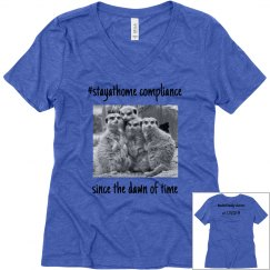 stay at home with meerkats-women's tee