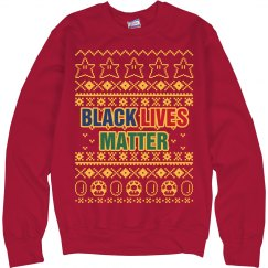Mario Black Lives Matter Ugly Sweater - Yellow Detail