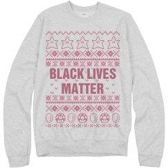 Mario Black Lives Matter Ugly Sweater - Pink Detail
