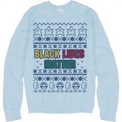 Mario Black Lives Matter Ugly Sweater - Blue Detail