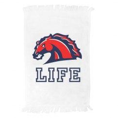 Life Mustangs Mascot Spirit Towel