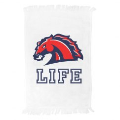 Life Mustangs Mascot Spirit Towel