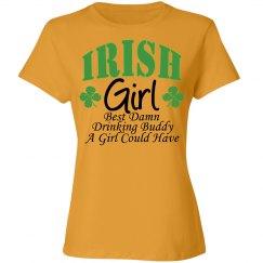 Irish Girl Drinking Buddy