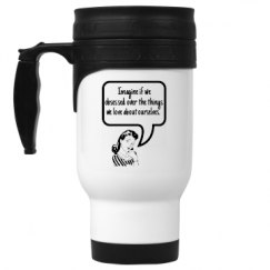 14oz White Stainless Steel Travel Mug