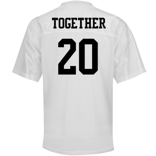 9e7024f828 Together Since Jersey Unisex Mesh Football Jersey