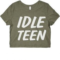 Idle Teen Crop Top
