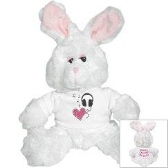 Music Heart Bunny Rabbit