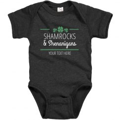 Custom Shamrocks and Shenanigans Bodysuit
