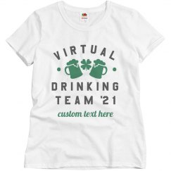 Virtual Drinking Team Custom Text Top