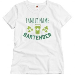 Custom Family Bartender Top