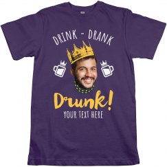 Custom Photo Drunk Mardi Tee