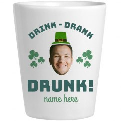 Custom Photo Drunk Shamrock Shot Glass