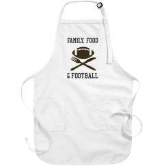 Family Food & Football Thanksgiving Apron