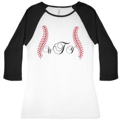 Initial Baseball T-Shirt