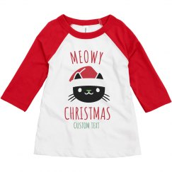 Meowy Christmas Custom Toddler