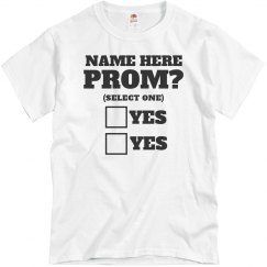 Funny Prom Proposal Idea