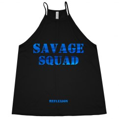 Savage High Neck Flowy Tank